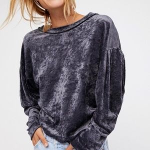 free people we the free crushed velvet sweater